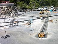 池の排水ビット工事